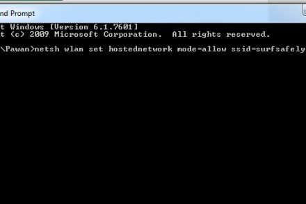 Wi-Fi Hotspot For Windows 8.187 using Command Prompt