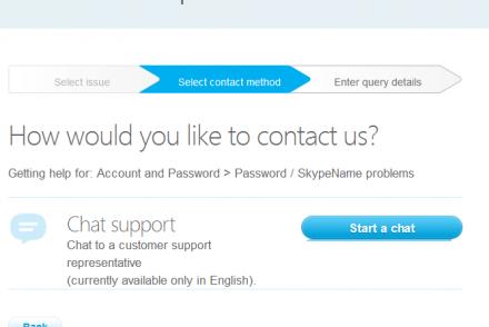 skype customer service
