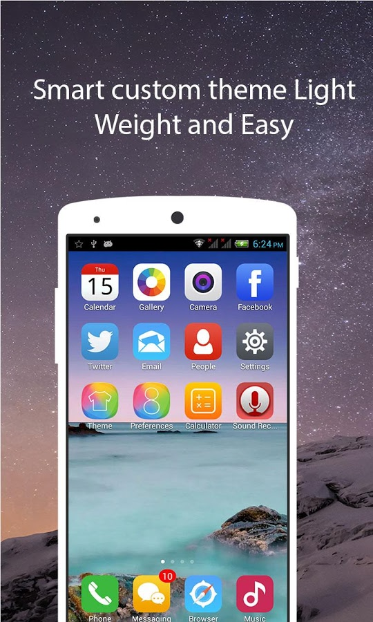 Ios 8 Launcher style