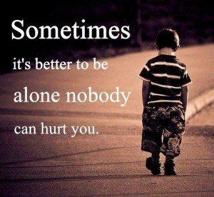 Sad Whatsapp being alone
