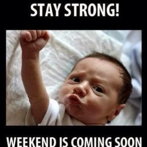 Stay strong funny baby