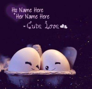 Adorable eggs cuddling