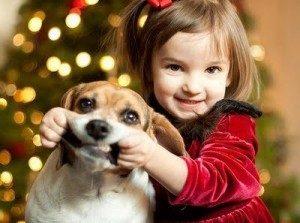 Cute dog smiles