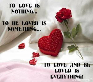To love is nothing
