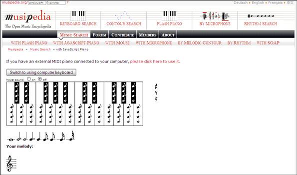 melody-search musicpedia