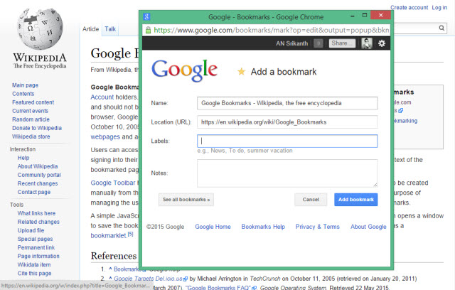 Google-Bookmarks