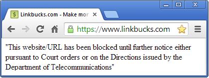 websites blocked