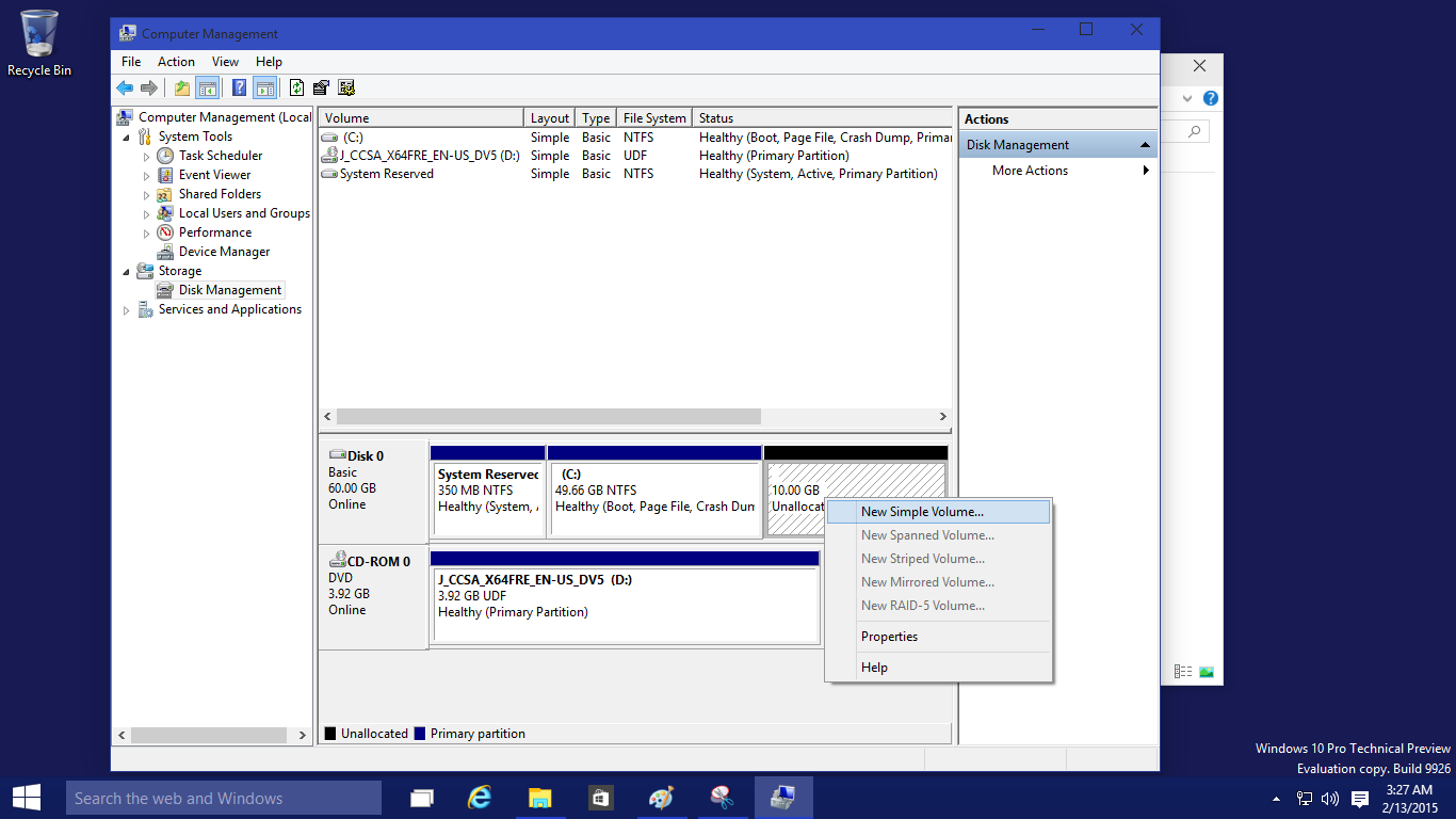 Partition And Format A New Hard Drive In Windows 10